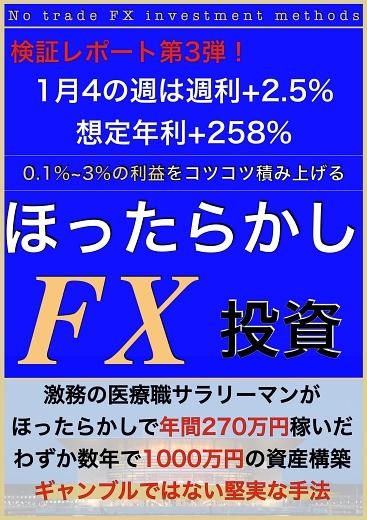 ほったらかし投資【ノートレードFX】検証レポート第3弾!